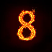 Números de fuego, 8 — Foto de Stock