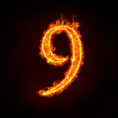 Fire numbers, 9 — Stock Photo
