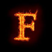 Alfabe, ateş f — Stok fotoğraf