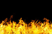 Fronteira de chamas de fogo sem emenda — Foto Stock