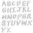 Handwritten alphabets — Stockvektor #8582066