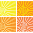Stock Vector: Yellow and orange burst rays background