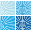 Stock Vector: Blue burst rays background