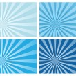 Blue burst rays background — Stock Vector #8584128