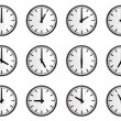 World time zone, wall clock vector — Stock Vector