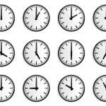 World time zone, wall clock vector — Stock Vector #8584912