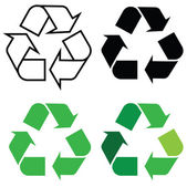 Znak recyklingu — Wektor stockowy
