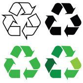 återvinna tecken — Stockvektor