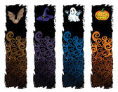 Halloween banner — Vector de stock
