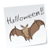 Halloween bat — Vector de stock