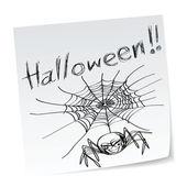 Halloween pavouk — Stock vektor