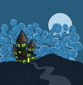 Spookhuis — Stockvector
