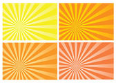 Yellow and orange burst rays background — Stock Vector