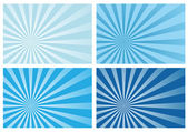 Blue burst rays background — Stock Vector