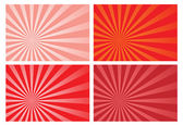 Red burst rays background — Stock Vector