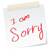 I am sorry — Stock Vector