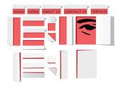 Projektowanie szablonów w stylu origami papieru — Wektor stockowy