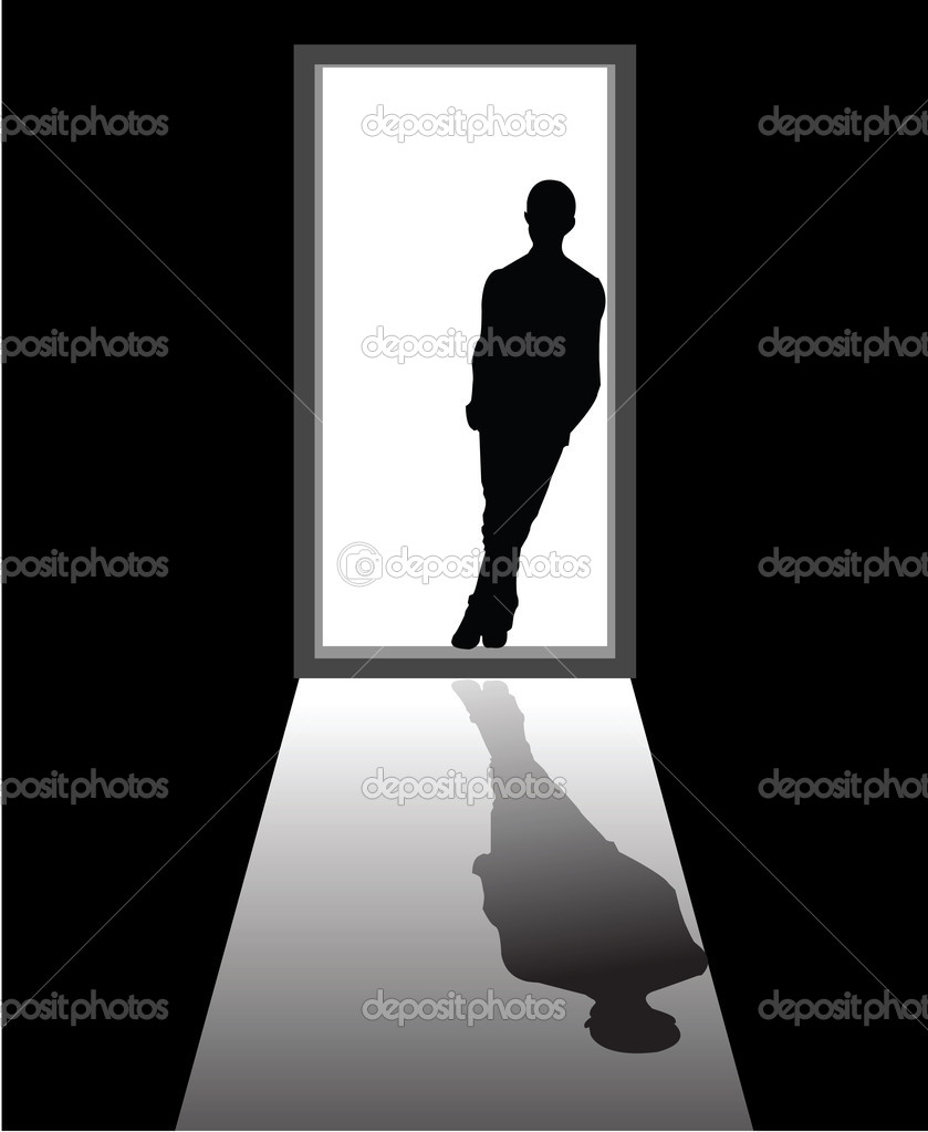 To illustrate a dream boy that appear in front of door. — Stock Vector #8580867