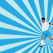 Soccer player — Vector de stock #8606513