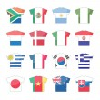 Countries flags icons - set 1 of 2 - Stock Vector