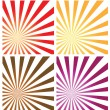 Stock Vector: Sunburst background