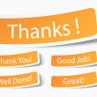 Royalty-Free Stock Vector Image: Thank you notes as stickers