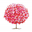 Love trees with hearts, valentine's theme — Stock Vector