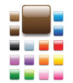 Shiny square buttons — Stock Vector