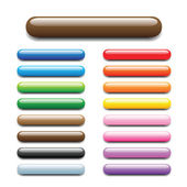 Bar tube buttons — Stock Vector