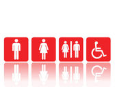 Toilet signs, man and woman — Stock Vector