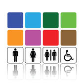トイレの標識、男と女 — ストックベクタ