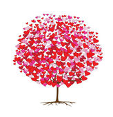 Love trees with hearts, valentine's theme — Stok Vektör