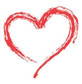 Kalp şekli aşkı simgeler için — Stok Vektör