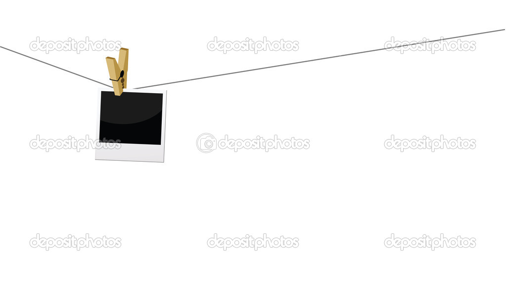 Photo frame attached on a leash.  Stock Vector #8606428