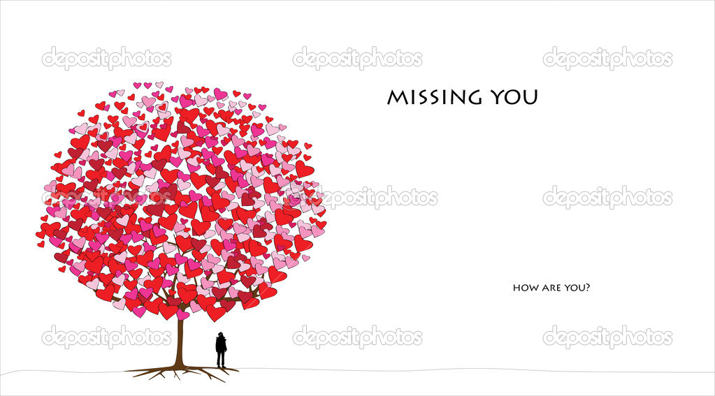 Love tree series, valentine's day - 04 of 06 (jpg) — Stock Vector #8606701