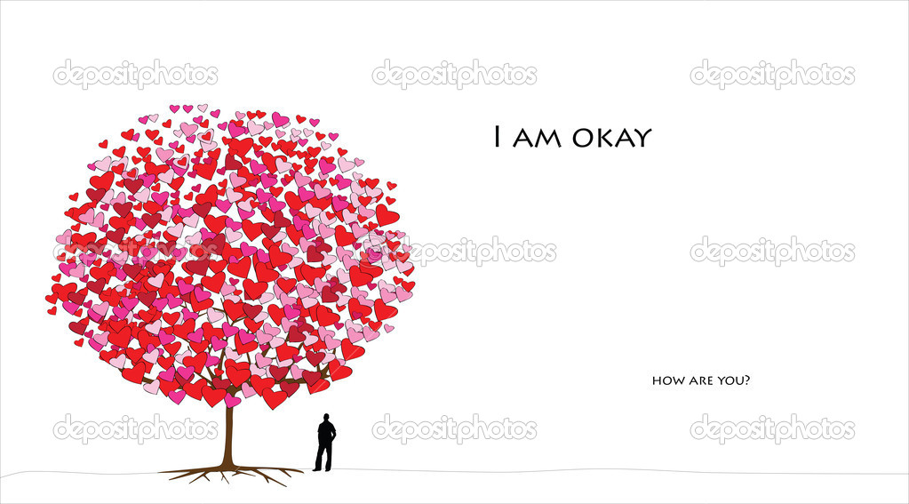 Love tree series, card design for valentine's day - 05 of 06 — Stock Vector #8606711