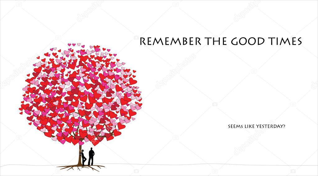Love tree series, card design for valentine's day - 02 of 06  Stock Vector #8606734