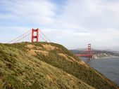 Marin Headlands and Golden Gate Bridge — Stock Photo