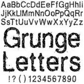 Lettere di grunge — Vettoriale Stock