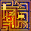 Circuit Board. - Stock Photo