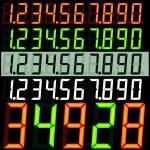 デジタル数字 — ストックベクタ