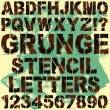 Royalty-Free Stock Imagem Vetorial: Stencil Letters