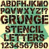 Pochoir lettres — Vecteur