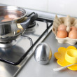 Stock Photo: Boiling eggs