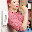Young woman with a pin-up look — Stock Photo #8715223