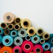 Stock Photo: Colored bobbins