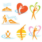Health_spa_sauna_icons — Vecteur