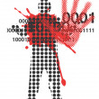 Victim of violence - Stock Vector
