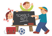 School_is_out — Stock Vector