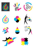 Icons_print_design — Stock Vector